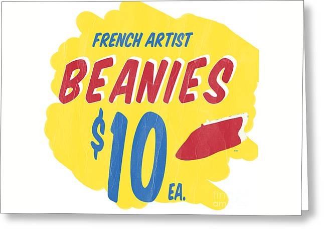 Artist Photographs Greeting Cards - French Artist Beanies Greeting Card by Edward Fielding