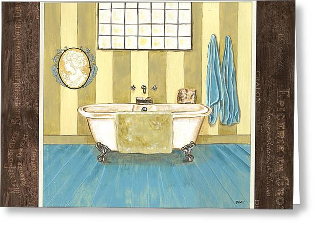 Powder Room Greeting Cards - French Bath 2 Greeting Card by Debbie DeWitt