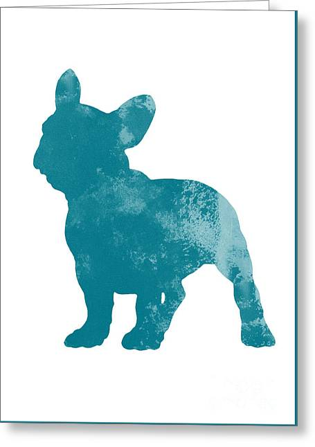 French Bulldog Fine Art Illustration Greeting Card by Joanna Szmerdt