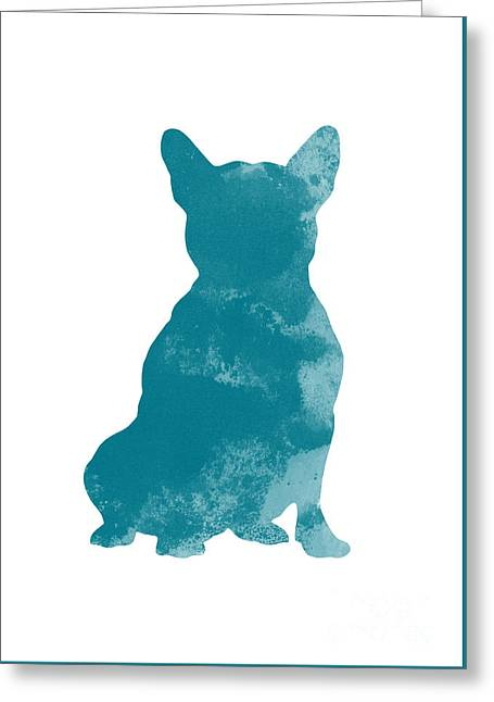 French Bulldog Illustration Watercolor Art Print Greeting Card by Joanna Szmerdt