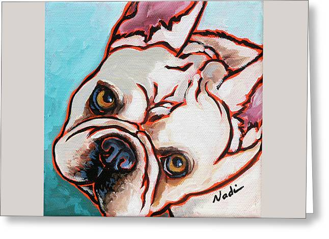 Best Sellers -  - Nadi Spencer Greeting Cards - French Bulldog Greeting Card by Nadi Spencer