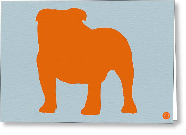 Funny Dog Digital Greeting Cards - French Bulldog Orange Greeting Card by Naxart Studio