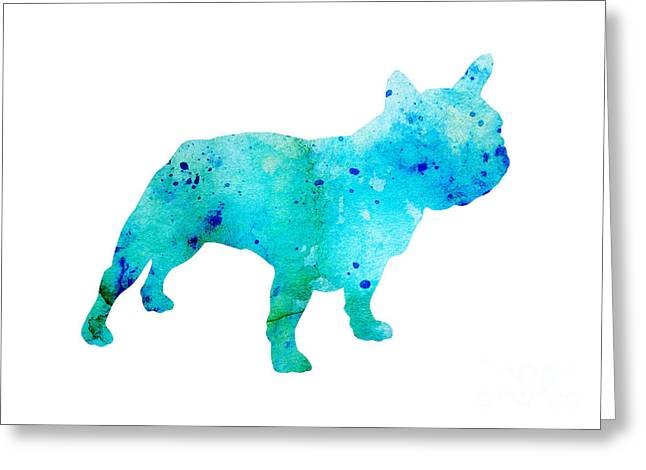 French Bulldog Silhouette Art Print Greeting Card by Joanna Szmerdt