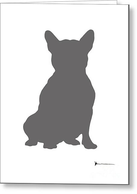 French Bulldog Watercolor Art Print Minimalist Painting Greeting Card by Joanna Szmerdt