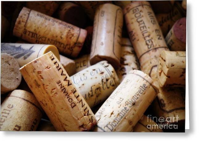 French Corks Greeting Card by Lainie Wrightson