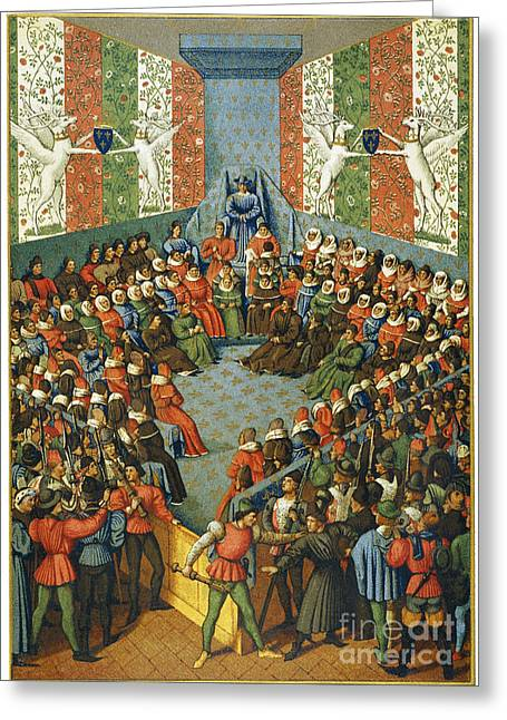 Trial Greeting Cards - French Court, 1458 Greeting Card by Granger