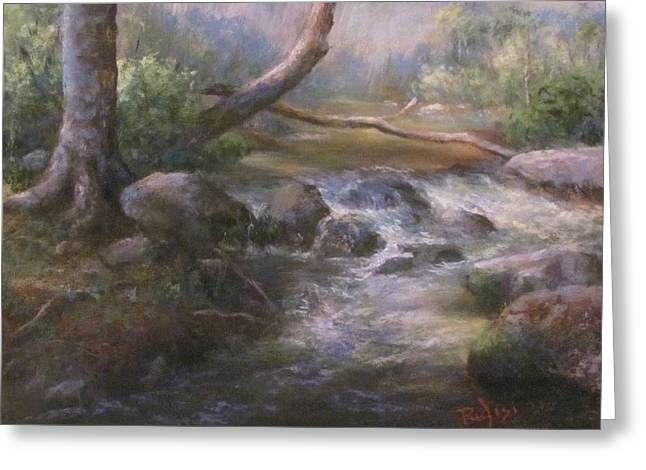 Rapids Pastels Greeting Cards - French Creek Greeting Card by Bill Puglisi