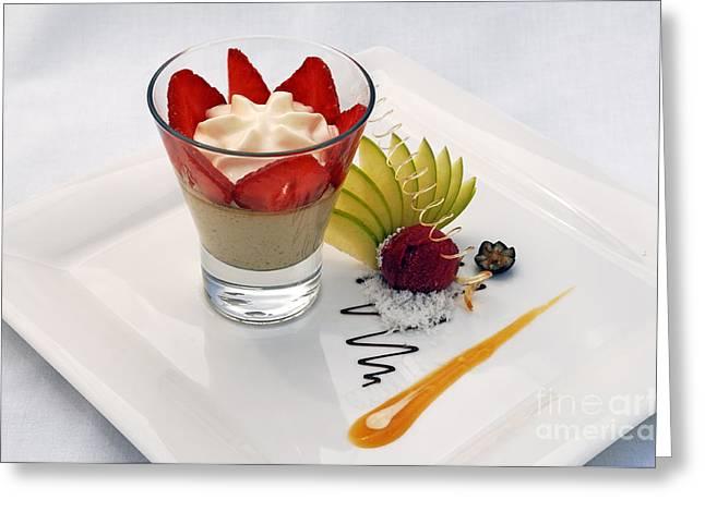 Sorbet Greeting Cards - French Dessert Greeting Card by Helmut Meyer zur Capellen