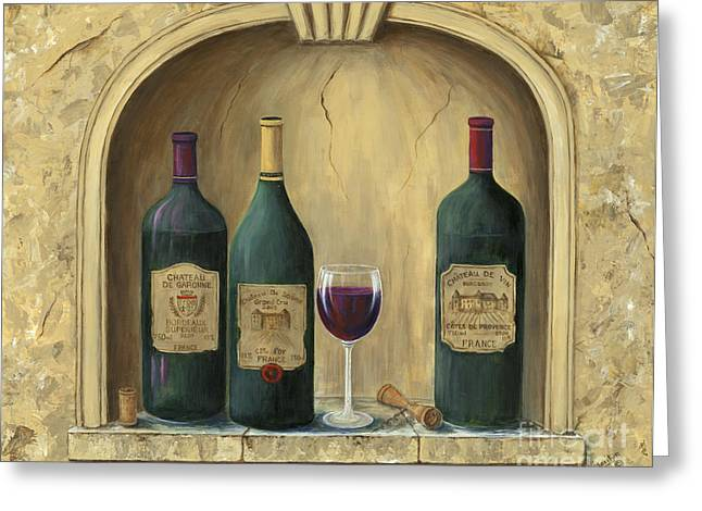 Glass Of Wine Greeting Cards - French Estate Wine Collection Greeting Card by Marilyn Dunlap