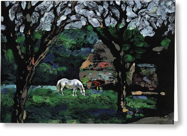 French Farm House Greeting Card by Robert McIntosh