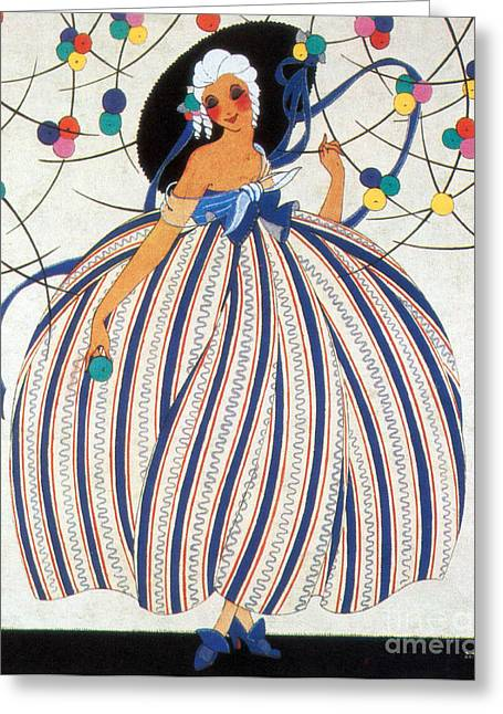Popular Art Greeting Cards - French Fashion, 1919 Greeting Card by Science Source