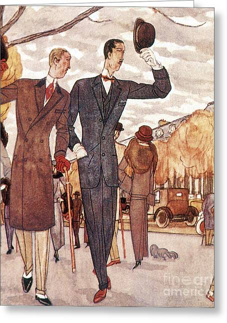 Apparel Greeting Cards - French Fashion, 1922 Greeting Card by Science Source