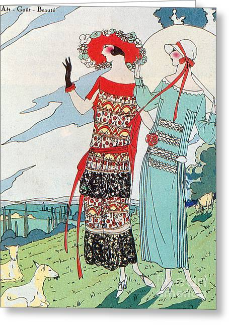 Popular Art Greeting Cards - French Fashion, 1923 Greeting Card by Science Source