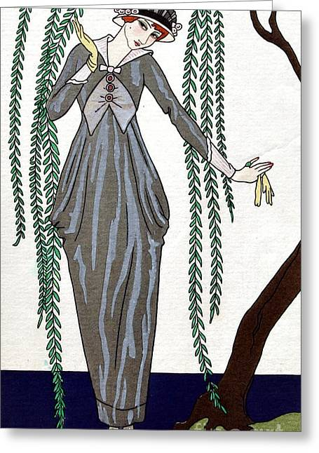 Apparel Greeting Cards - French Fashion, George Barbier, 1913 Greeting Card by Science Source