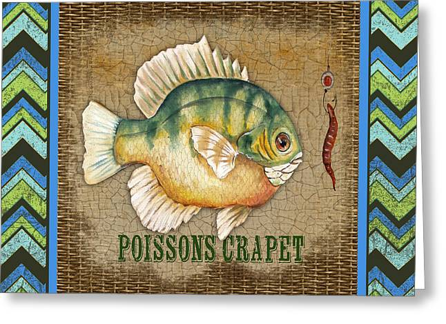 Brown Trout Greeting Cards - French Fish-JP3100 Greeting Card by Jean Plout