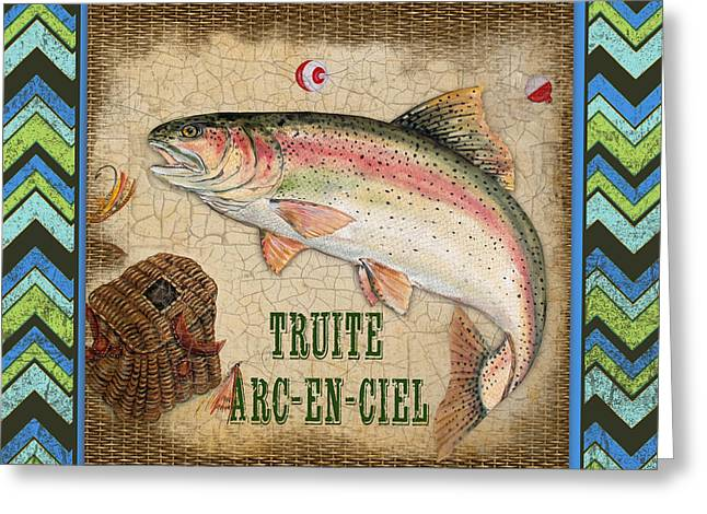 Brown Trout Greeting Cards - French Fish-JP3101 Greeting Card by Jean Plout