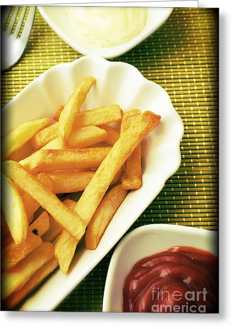 French Fries Greeting Cards - French fries Greeting Card by Andreas Berheide
