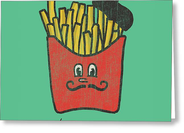 Fast Greeting Cards - French Fries Greeting Card by Budi Kwan