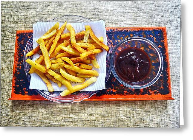 French Fries Greeting Cards - French fries Greeting Card by Veena Nair