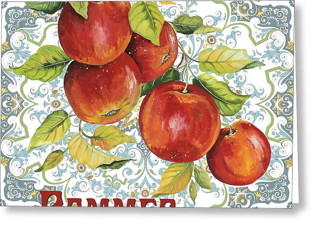 French Pears Greeting Cards - French Fruit-JP3104 Greeting Card by Jean Plout