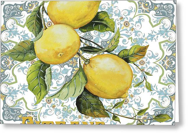 French Pears Greeting Cards - French Fruit-JP3105 Greeting Card by Jean Plout
