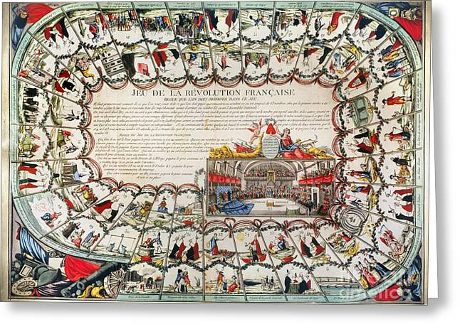 French Game Board, 1791 Greeting Card by Granger