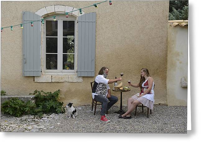 Apt Greeting Cards - French Living Greeting Card by Christian Heeb