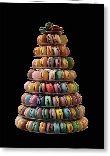 Christmas Trees Greeting Cards - French Macarons Greeting Card by Rona Black