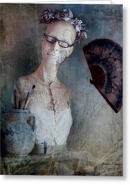 French Mannequin Bust Still Life Greeting Card by Bellesouth Studio