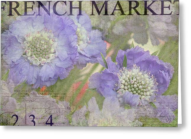 French Market Greeting Cards - French Market Series R Greeting Card by Rebecca Cozart