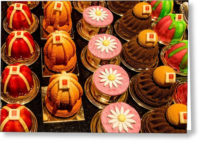 French Pastries In Lyon Greeting Card by Gary Karlsen