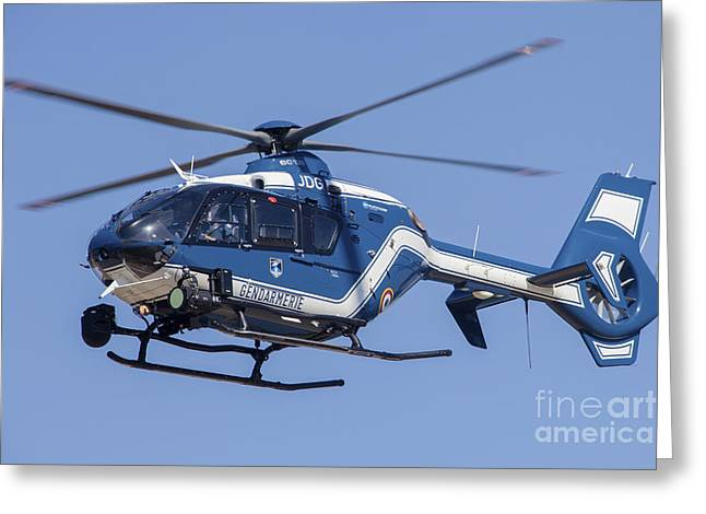 Military Police Greeting Cards - French Policegendarmerie Ec135 Greeting Card by Timm Ziegenthaler