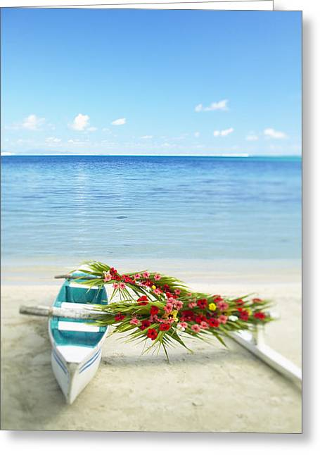 Island Cultural Art Greeting Cards - French Polynesia, Huahine Greeting Card by Kyle Rothenborg - Printscapes