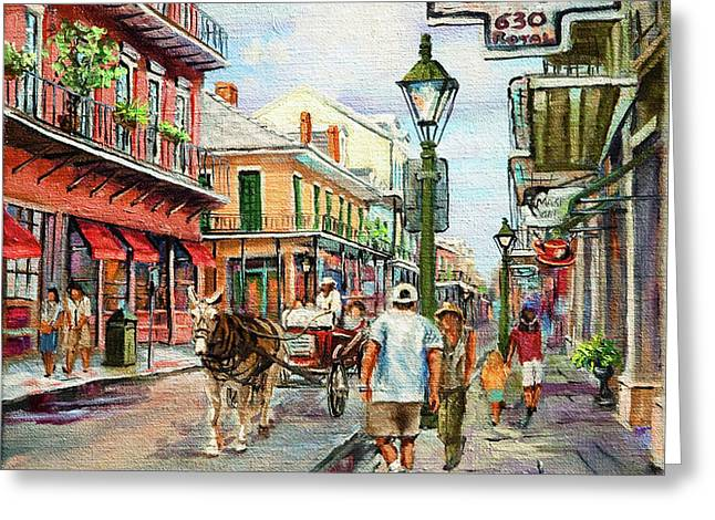 French Quarter Antiques Greeting Card by Dianne Parks