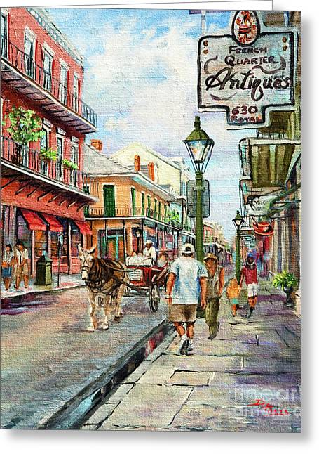 Vieux Carre Greeting Cards - French Quarter Antiques Greeting Card by Dianne Parks