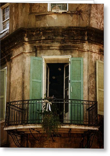Chrystal Greeting Cards - French Quarter Balcony Greeting Card by Chrystal Mimbs
