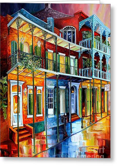 Recently Sold -  - Iron Greeting Cards - French Quarter Charm Greeting Card by Diane Millsap