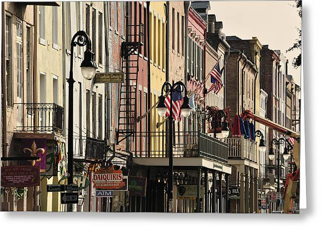 Row Of Houses Greeting Cards - French Quarter Greeting Card by Christian Heeb