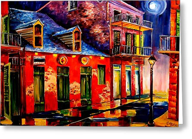 French Quarter Dazzle Greeting Card by Diane Millsap