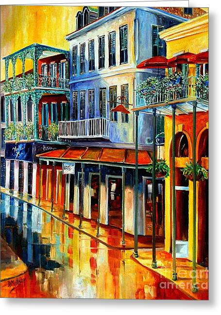 Louisiana Landscape Greeting Cards - French Quarter Sunrise Greeting Card by Diane Millsap