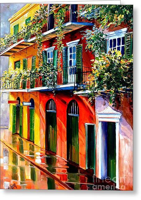 French Quarter Sunshine Greeting Card by Diane Millsap