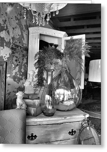Interior Still Life Greeting Cards - French Reflections 2 Greeting Card by Jan Amiss Photography