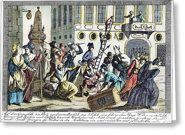 Protesters Greeting Cards - French Revolution, 1789 Greeting Card by Granger