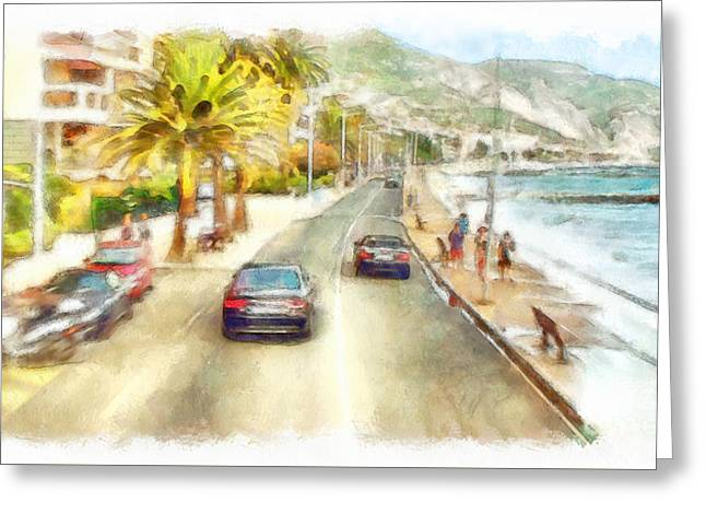 French Riviera Greeting Card by Sergey Lukashin