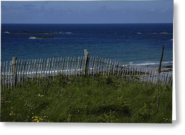 Blue Green Water Greeting Cards - French Seashore Greeting Card by Dan Albright