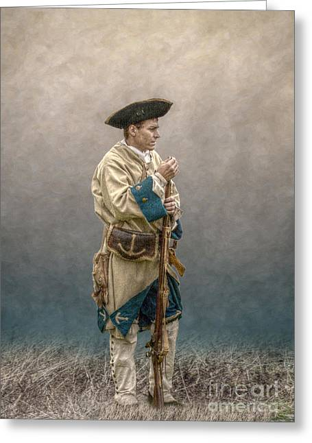 French Soldier French And Indian War Greeting Card by Randy Steele