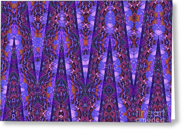 Cloth Greeting Cards - French Tapestry Greeting Card by Ann Johndro-Collins