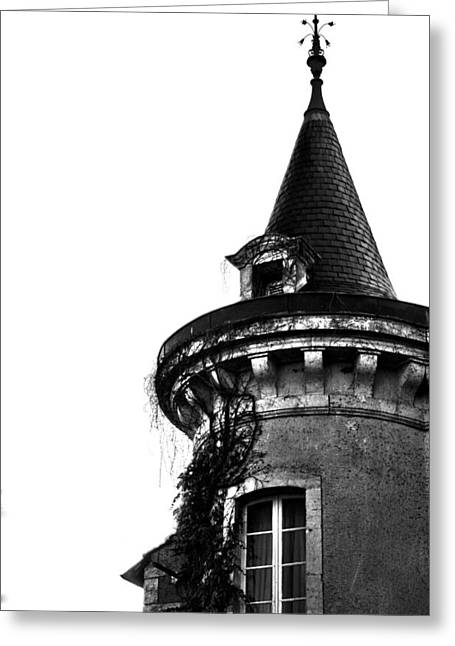Recently Sold -  - Chateau Greeting Cards - French Turret Greeting Card by Nomad Art And  Design