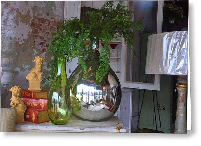 Interior Still Life Greeting Cards - French Vases Greeting Card by Jan Amiss Photography