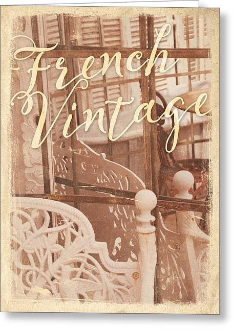 South Of France Greeting Cards - French Vintage Greeting Card by Antique Images